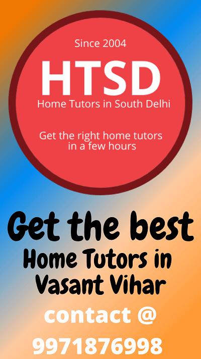 home tutors in vasant vihar